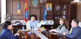 TSPU specialist at Center of Russian language in Mongolia