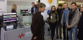 TSPU STUDENTS AND TEACHERS AT THE EXHIBITION OF NANOTECHNOLOGIES