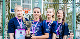 BASKETBALL PLAYERS OF TSPU WON The cup of Students of Siberia