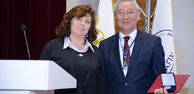 TAKIR OSPANOVICH BALYKBAEV IS AWARDED WITH THE SILVER MEDAL «FOE MERITS IN EDUCATION AND SCIENCE»