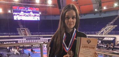 TSPU STUDENT WON BRONZE MEDAL AT THE RUSSIAN KARATE CHAMPIONSHIP