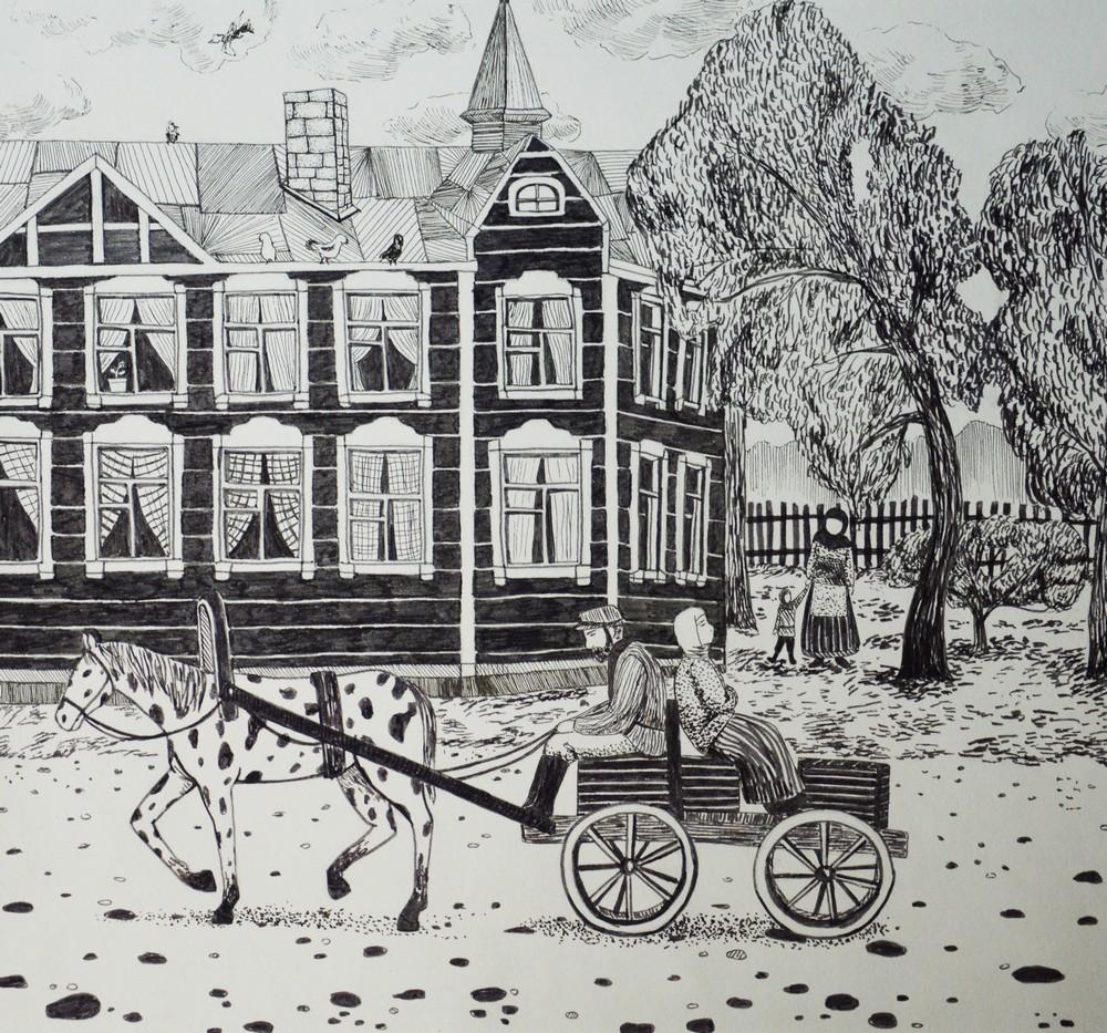 Картинки раскраски старый томск